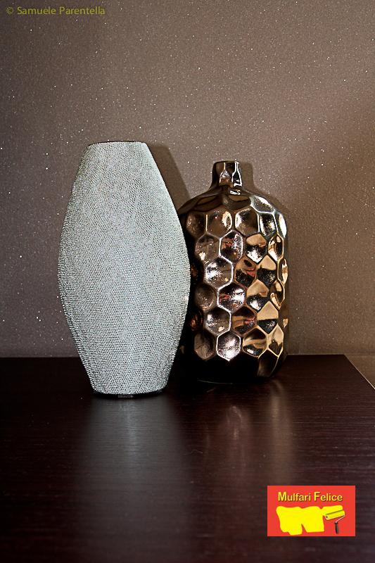 Velatura di Tinta Grigia con Effetto Glitter per un Appartamento a ...
